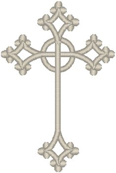 Vintage Ecclesiastical Cross Design 238 Embroidery Design