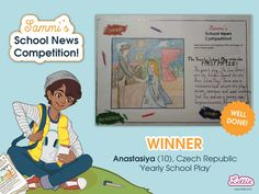 Congratulations to our Sammi School News Competition winners, whose entries featured in the Branksea school newspaper included with our Sammi doll. School Play, School S, Steam Toys, School Newspaper, Sports Day, Play S, Toys For Girls, Coloring Pages For Kids, Competition