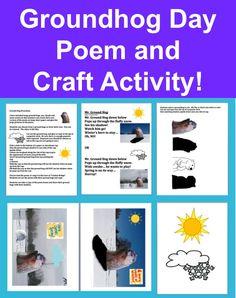 Groundhog Day Activities for Kids, Groundhog Day Song Poem Groundhog Day Activities, Teaching Activities, Craft Activities, Fun Learning, Teaching Resources, Teaching Ideas, Holiday Activities For Kids, Classroom Hacks, Teacher Notebook