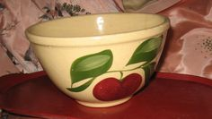 vintage collectible apple design WATT pottery bowl...one of my favorite collections