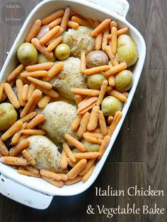 Italian Chicken Vegetable Bake