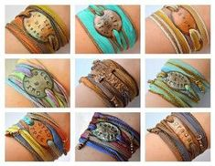 DESIGN your OWN- Boho Silk Wrap Bracelet- Silk Ribbon Bracelet- Wrap bracelet Yoga wrap- gypsy bracelet- Indie- Hippie-boho jewelry on Etsy, $32.00 by olive