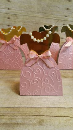 Pink and gold party ,Princess  dresses Party Favor, Paper Dress box by HeidiPartyCreations on Etsy