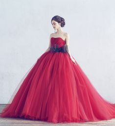 A by Hatsuko Endo - Red Wedding Dresses, Wedding Gowns, Bridesmaid Dresses, Formal Dresses, Bridesmaids, Prom Dreses, Saree Jewellery, Costume Dress, Gothic Lolita