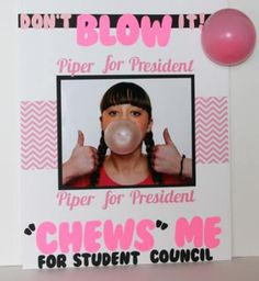 Make this clever gum-themed student council board gum-themed student council poster