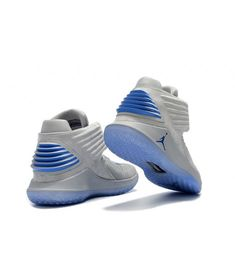 2017 new release air jordan 32 blue sole grey flyknit vamp blue lace on sale - Cheap Air Jordan Store Cheap Jordan Shoes, Cheap Jordans, Air Jordans, Jordan Store, Cheap Air, Blue Lace, Shoe Sale, Adidas Sneakers, Grey
