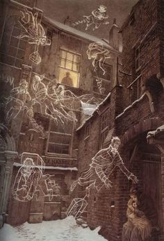 Roberto Innocenti ~Illustration by A CHRISTMAS CAROL by Charles Dickens