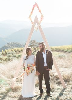 How to decide on your unique outdoor wedding ceremony ideas - You might be feeling a bit like 'I've seen it all before' when it comes to wedding ceremony archs. We've composed a list of unique ideas for your ceremony Wedding Ceremony Backdrop, Outdoor Ceremony, Wedding Backdrops, Ceremony Arch, Trendy Wedding, Boho Wedding, Green Wedding, Wedding Wows, Wedding Flowers