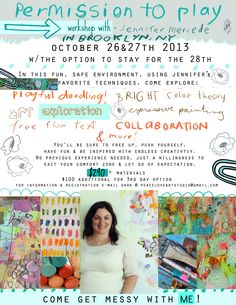 Jennifer Mercede is coming to NY October 26th & 27th!! Sign up Now to paint with her!!