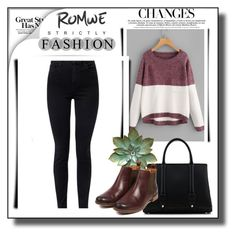 """Romwe contest"" by ajisa-ikanovic ❤ liked on Polyvore featuring J Brand, La Perla and Barbour"