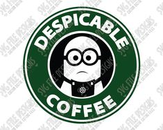Despicable Me Minion Starbucks Logo Cut File Set in SVG, EPS, DXF, JPEG, and PNG