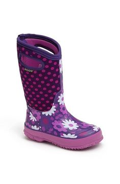 Bogs 'Classic High - Flower Dot' Waterproof Boot (Walker, Toddler, Little Kid & Big Kid)   Nordstrom