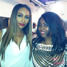 Me and Cynthia Bailey at all white party in Atlanta