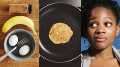 3 ingredient pancakes. 1 banana 2 eggs Some cinnamon