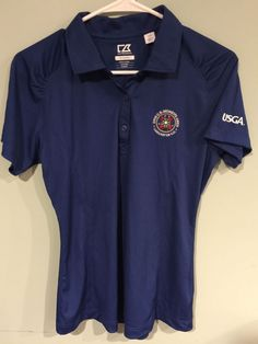 Cutter & Buck SMALL Royal Blue 2015 US Womens Open Lancaster Golf Wicking Top #CutterBuck #ShirtsTops