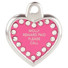 TagWorks Blingz Personalized Heart ID Tag with Crystals - PetSmart