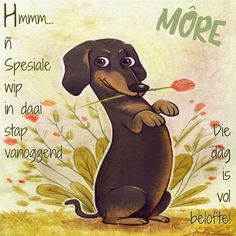 Great weekend for everyone! Great weekend for everyone! Lekker Dag, Dashund, Goeie More, Photo Wall Art, Good Morning Wishes, Happy Mothers, Cute Art, Scooby Doo, Pop Art