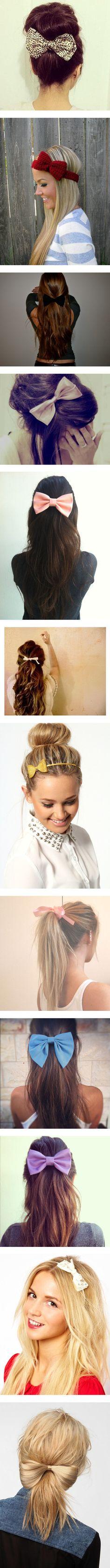ways to wear a bow.