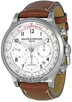 Baume and Mercier Capeland White Dial Chronograph Mens Watch MOA10000