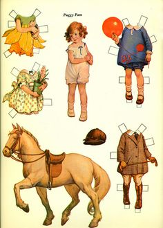 Uncut 1988 LITTLE BUSYBODIES from Original Paper Doll Book by Frances Tipton Hunter from EvelynnsAlcove