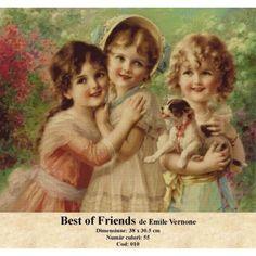 Vanzare set goblen Best of Friends de Emile Vernone http://set-goblen.ro/portrete/3664-best-of-friends-de-emile-vernone.html