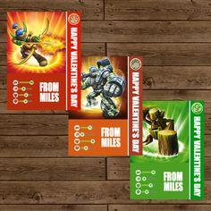 SKYLANDERS & SKYLANDERS GIANTS Printable Valentine's Trading Cards