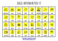 JUEGO DE VOCABULARIO:   ADIVINA MI POST-IT   Hoy os traigo un juego muy sencillo para repasar vocabulario de forma amena con estudiantes de...