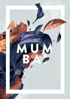 Mumbai by Fabian De Lange | Floral Typography Designs that Combine Flowers & Text