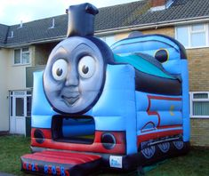 Thomas bouncy house. This would be perfect too.