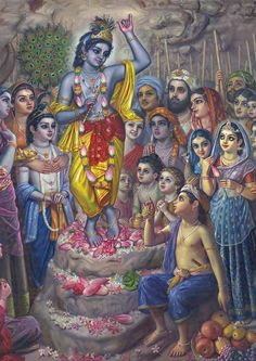 GOVARDHANA PUJA The name 'Govardhana' has two meanings: 'Go' means 'cows' and 'vardhana' means 'nourishment'. 'Go' also means 'the senses' and 'vardhana' is 'to increase'. So Govardhana nourishes the cows and increases the senses in attraction to Krishna. Read it here: http://www.dandavats.com/?p=12027