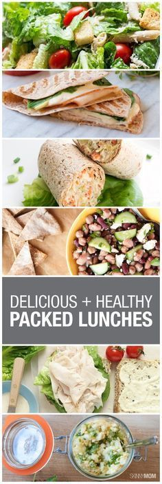 10 healthy & portable lunches - Prep a few days worth at one time and you only have to think about lunch twice a week!
