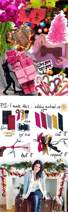 Bring Joy to the World this Holiday season! Use your fashion sense to give your home a festive twist! We were inspired by Tory Burch'...