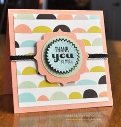 Stampin' Up! Sale-A-Bration; Starburst Sayings; Stampin' Up! 2014 Occasions Catalog; 3x3 Mini Card; Card Creations by Beth