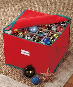 Ornament Storage or Gift Wrap Organizer