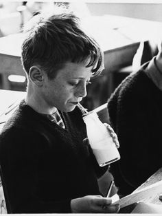 School Milk 1960s. God it was horrible. It would have nasty flavours like spearmint and it would always be warm from sitting outside in the sun before play lunch.