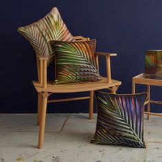 Perfect for maximalists, colour lovers and those who like bold interior design!  These sustainable cushions are made from eco friendly linen.  Inspired by tropical islands, botanical illustrations and style it dark interiors.  They look amazing against dark walls and plush velvet.