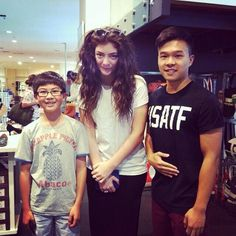 Lorde with fans