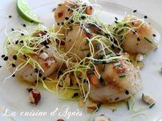 Recette Entrée : Saint jacques sauce citron vert curry gingembre par Agnes.f