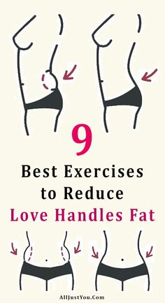 9 Best Exercises to Reduce Love Handles Fat – Fitness Tips Yoga Fitness, Fitness Workouts, Fitness Motivation, Fitness Diet, At Home Workouts, Health Fitness, Extreme Workouts, Floor Workouts, Women's Health