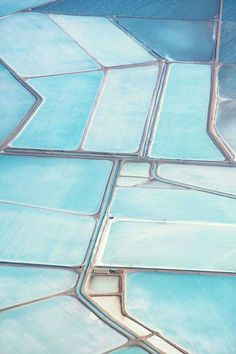 Blue Fields, Salt Production In Western Australia Photo by Simon Butterworth