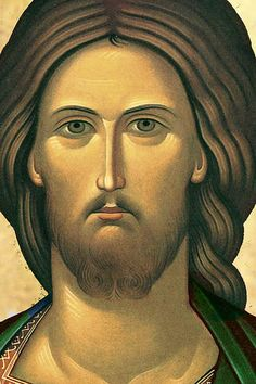 Jesús by Jacques Bihin Byzantine Icons, Byzantine Art, Religious Icons, Religious Art, Christ Pantocrator, Greek Icons, Paint Icon, Images Of Christ, Jesus Face