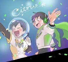 Choromatsu and Jyushimatsu are precious happy bros