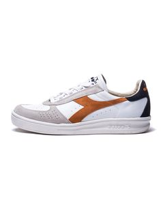 MEN'S SHOES | B.ELITE SL BLUE SHOES | HERITAGE | LEATHER AND SUEDE | WHITE & BLUE | DIADORA