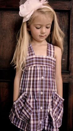 Recycleproject... from a men's shirt to a cute little girls dress...
