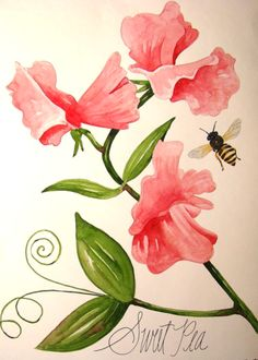 april Birth Flower drawing | Sweet Peas are the birth flower of everyone born in April.