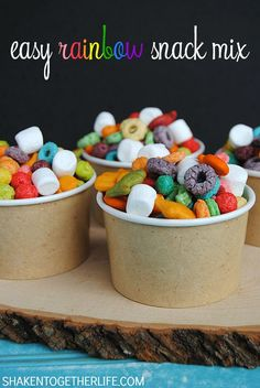 Easy Rainbow Snack mix by Shaken Together