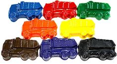 SET of 8 - DUMP TRUCK Crayons - Doodle R Us on Etsy, $7.00