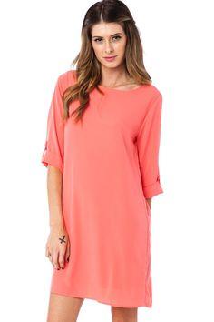 437efa4ab61 ShopSosie Style   Arden Shift Dress in Coral