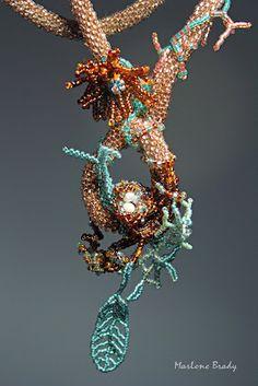 Sculptural bead crochet by Marlene Brady