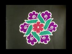 Beautiful rangoli designs with colours for festivals & Celebrations / Beginners. Welcome to our own channel, Daily Rangoli Designs. Rangoli Border Designs, Rangoli Designs Images, Rangoli Designs With Dots, Rangoli Designs Diwali, Kolam Rangoli, Flower Rangoli, Rangoli With Dots, Beautiful Rangoli Designs, Indian Rangoli